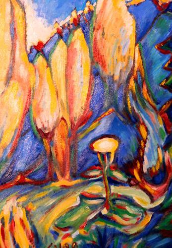 Christophorus Hardenbicker, Waldblume 1998, Abstraktes, Neo-Expressionismus