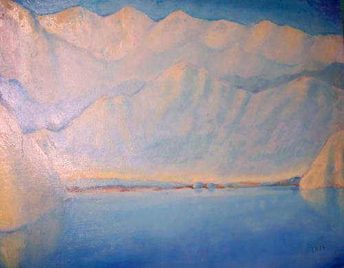Christophorus Hardenbicker, See-Schweiz 1984, Landschaft: See/Meer, Impressionismus