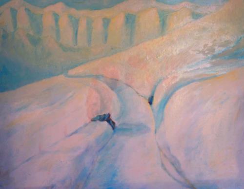 Christophorus Hardenbicker, Schneeberg 1983, Landschaft: Berge, Impressionismus