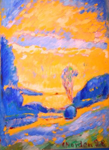 Christophorus Hardenbicker, An der Bever 1998, Landschaft: Herbst, Impressionismus