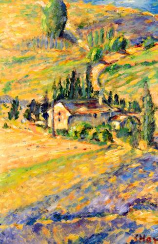 Christophorus Hardenbicker, Südfrankreich 1998, Landschaft: Hügel, Impressionismus