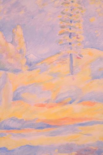Christophorus Hardenbicker, Schneeberg 1999, Landschaft: Berge, Impressionismus