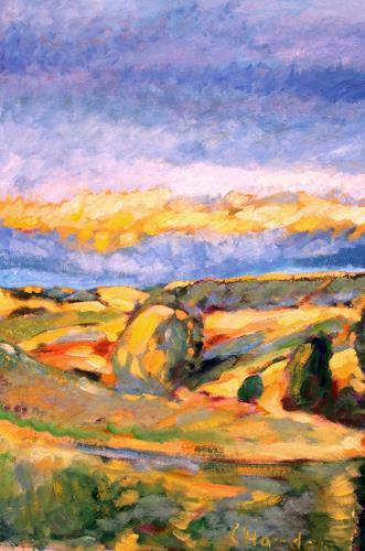 Christophorus Hardenbicker, Bergisches Land 1998, Landschaft: Herbst, Impressionismus