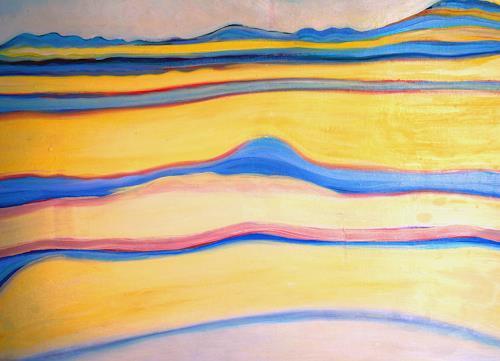Christophorus Hardenbicker, Frühling 1986, Landschaft: Hügel, Impressionismus
