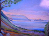 Christophorus-Hardenbicker-Landschaft-See-Meer-Moderne-Impressionismus-Neo-Impressionismus