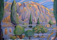 Christophorus-Hardenbicker-Landschaft-Berge-Moderne-Impressionismus