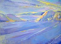 Christophorus-Hardenbicker-Landschaft-Landschaft-See-Meer-Moderne-Impressionismus