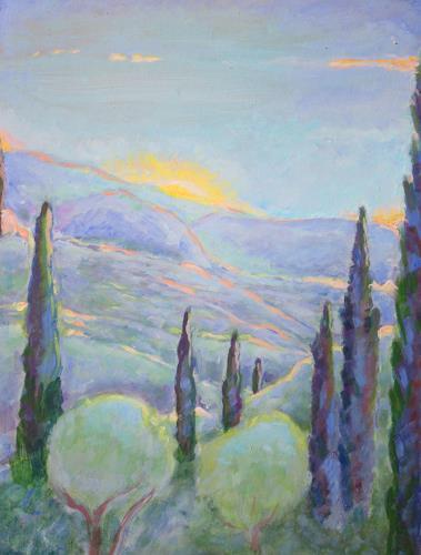Christophorus Hardenbicker, Blick von Aghia Kyriaki 2015, Landschaft, Impressionismus