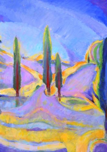 Christophorus Hardenbicker, Garten Dez.2015, Landschaft, Impressionismus