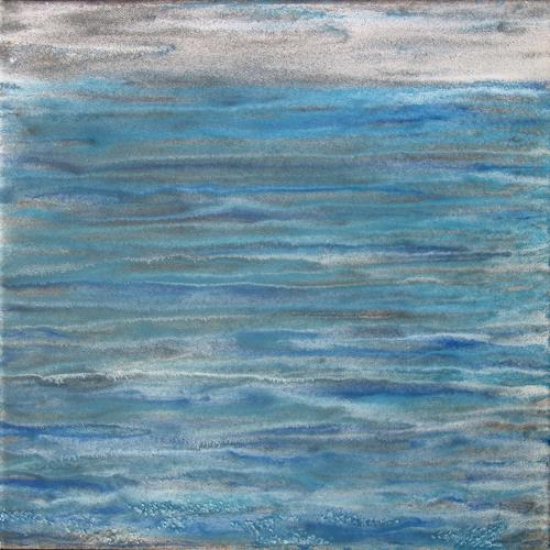 Manuela Rauber, Periode | Tide 3, Natur: Wasser, Bewegung, Gegenwartskunst, Expressionismus