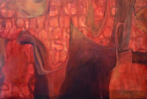 Manuela Rauber, das drama atmet schwer, Abstraktes, Gefühle: Angst, Gegenwartskunst, Abstrakter Expressionismus