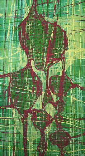 Manuela Rauber, Gedankennetz 2, Abstraktes, Abstraktes, Abstrakte Kunst