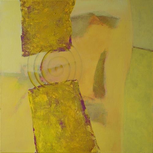 Manuela Rauber, Gegengelb 3, Natur: Diverse, Symbol, Gegenwartskunst, Expressionismus
