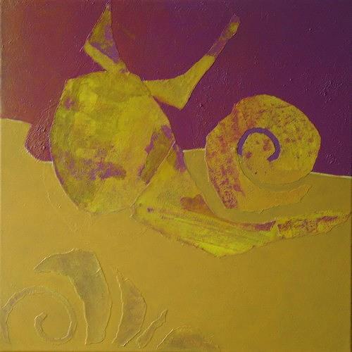 Manuela Rauber, Gegengelb 4, Tiere: Land, Symbol, Gegenwartskunst