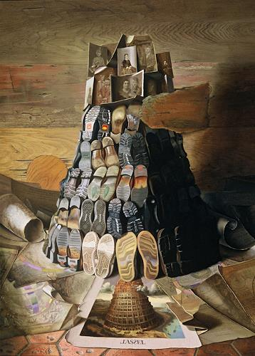 Michael Lassel, Turm zu Babel, Diverse Bauten, Religion, Realismus, Abstrakter Expressionismus