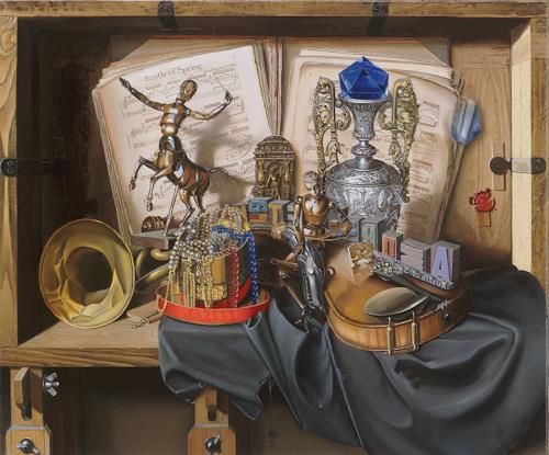 Michael Lassel, Frühlingsrauschen50, Stilleben, Musik: Instrument, Realismus, Expressionismus