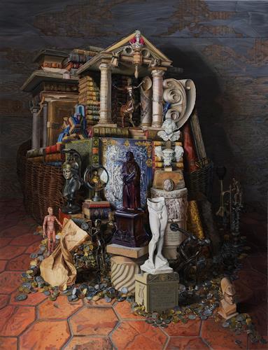 Michael Lassel, Das Narrenschiff, Gesellschaft, Symbol, Realismus