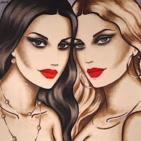 Ekaterina-More-Menschen-Frau-Menschen-Gesichter-Moderne-Art-Deco