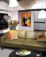 Ekaterina-More-Menschen-Frau-Landschaft-Herbst-Moderne-Art-Deco
