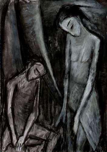 Regina Grahl, Judiths Nacht, Religion, Diverse Gefühle, Abstrakter Expressionismus