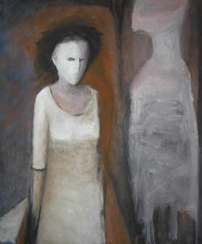 Regina Grahl, Die Muse bleibt Fensterschau, Menschen: Modelle, Abstrakter Expressionismus