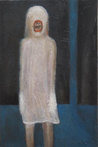 Regina Grahl, Nachtgewächs. Selbst als Kind. aus der serie: SCHREI oder STIRB !, Diverses, Abstrakter Expressionismus