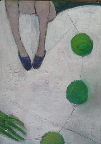 Regina Grahl, abflug (froschkugeln), Gesellschaft, Diverse Menschen, Abstrakter Expressionismus