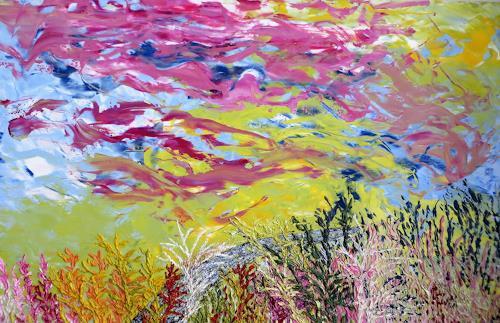 waldraut hool-wolf, farben im wind, Landschaft: Sommer, Landschaft: Herbst, Land-Art