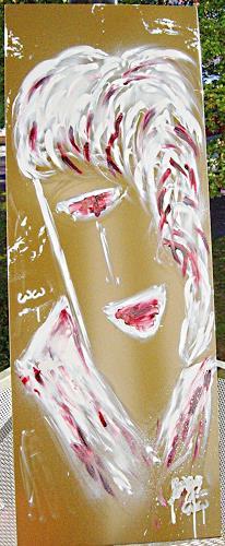 waldraut hool-wolf, to be on metallic, Abstraktes, Menschen: Gesichter, Abstrakte Kunst