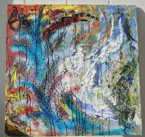 waldraut hool-wolf, Steinfluss, Bewegung, Neo-Impressionismus