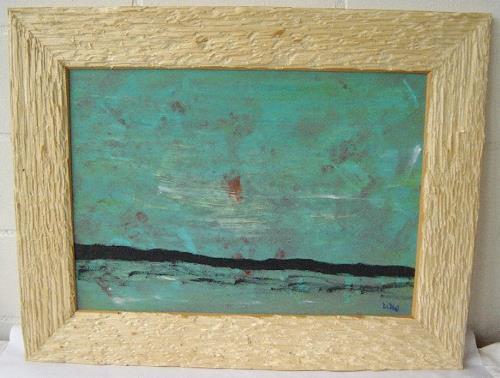 waldraut hool-wolf, montagna, Fantasie, Landschaft: See/Meer, Neo-Expressionismus, Expressionismus