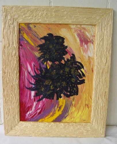 waldraut hool-wolf, fiore bero, Abstraktes, Landschaft: Frühling, Neo-Impressionismus