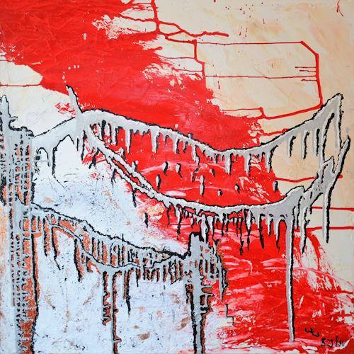 waldraut hool-wolf, das haus of the bridge*5J*, Abstraktes, Architektur, Abstrakte Kunst