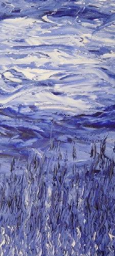 waldraut hool-wolf, azzurro sogno, Abstraktes, Fantasie, Neo-Expressionismus