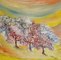 waldraut-hool-wolf-Abstraktes-Landschaft-Fruehling-Gegenwartskunst-Land-Art