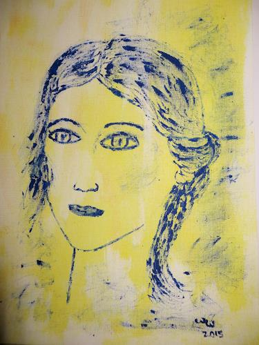 waldraut hool-wolf, face, Menschen: Porträt, Menschen: Frau, Gegenwartskunst