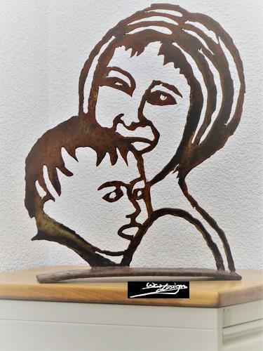 waldraut hool-wolf, Mutter Kind, Gefühle: Liebe, Menschen: Gesichter, Pop-Art, Expressionismus