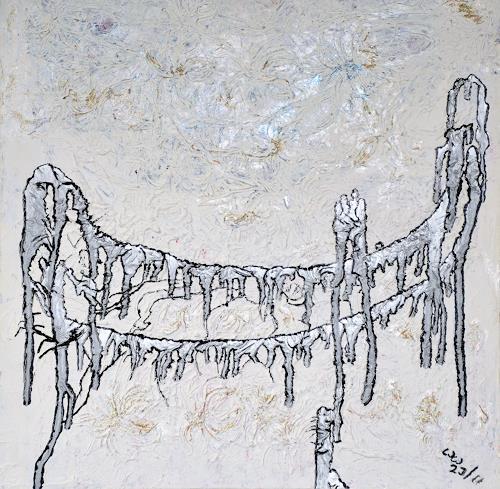 waldraut hool-wolf, talk on the bridge*2J*, Abstraktes, Diverse Menschen, Abstrakte Kunst