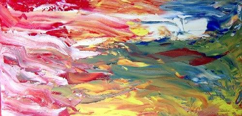 waldraut hool-wolf, farbenspiel der fantasie, Abstraktes, Abstraktes, Neo-Expressionismus