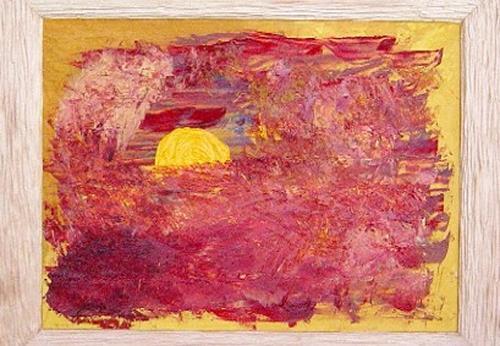 waldraut hool-wolf, il sole dorato, Abstraktes, Fantasie, Neo-Expressionismus