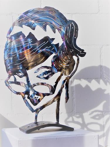 waldraut hool-wolf, Durchblick  S8, Abstraktes, Menschen: Gesichter, Pop-Art