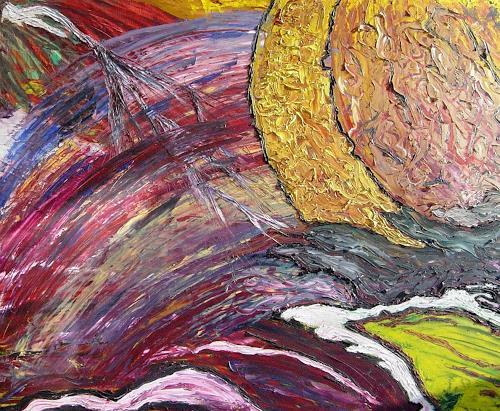 waldraut hool-wolf, il bianco di mano, Abstraktes, Abstraktes, Neo-Expressionismus