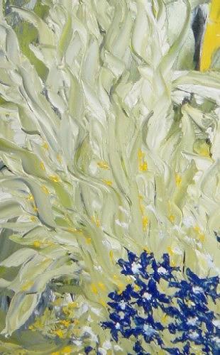 waldraut hool-wolf, edelgrün, Fantasie, Landschaft: Frühling, Neo-Expressionismus