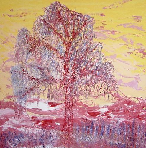 waldraut hool-wolf, sogno, Abstraktes, Pflanzen: Bäume, Neo-Expressionismus