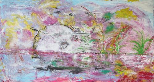 waldraut hool-wolf, the face, Abstraktes, Abstraktes, Gegenwartskunst, Abstrakter Expressionismus