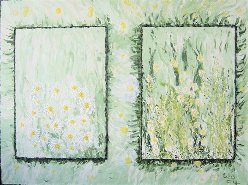 waldraut hool-wolf, weisse blume, Landschaft: Frühling, Pflanzen: Blumen, Gegenwartskunst