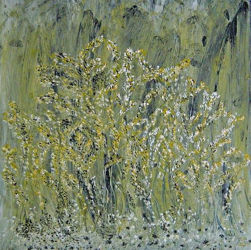 waldraut hool-wolf, verde giallo ramo, Landschaft: Frühling, Bewegung, Land-Art