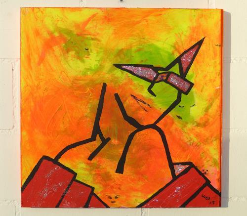 waldraut hool-wolf, lady in orange, Menschen: Frau, Menschen: Porträt, Moderne