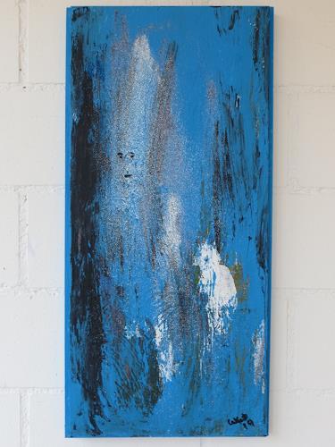 waldraut hool-wolf, blue blue time, Abstraktes, Fantasie, Gegenwartskunst