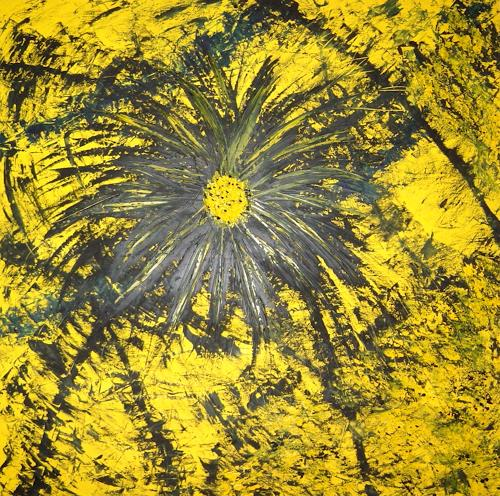 waldraut hool-wolf, fiore nero, Abstraktes, Fantasie, Neo-Expressionismus